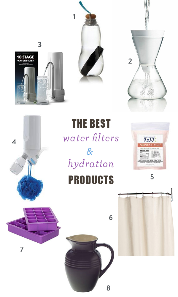 The Best Water Filters and At- Home Hydration Products | Pitchers, Sink top, Japanese Charcoal, Water Bottles | Best Brands and Products