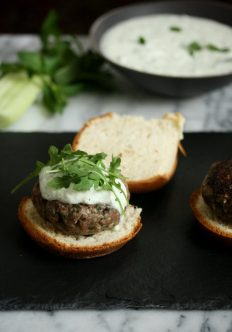 Greek Lamb Burgers with Mint Tzatziki