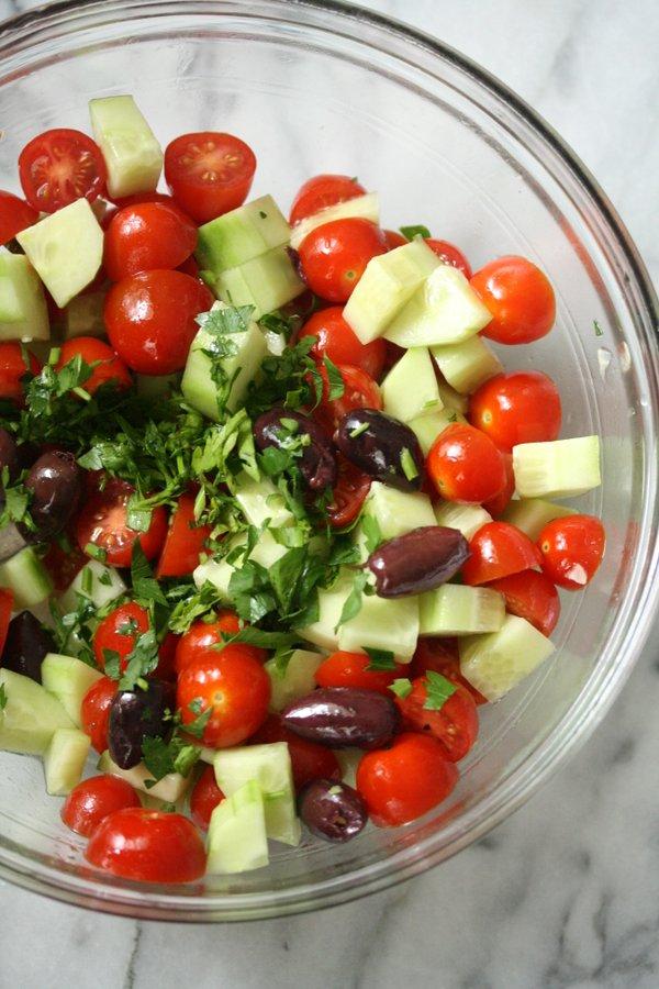 Greek Kale Salad with Chick'n | Healthy Salad Recipes | Vegan