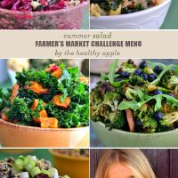 Summer Salad Farmer's Market Challenge Menu From The Healthy Apple