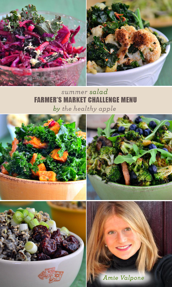 FMC-Menu-TheHealthyApple | Amie Valpone Kale Summer Salad Recipes