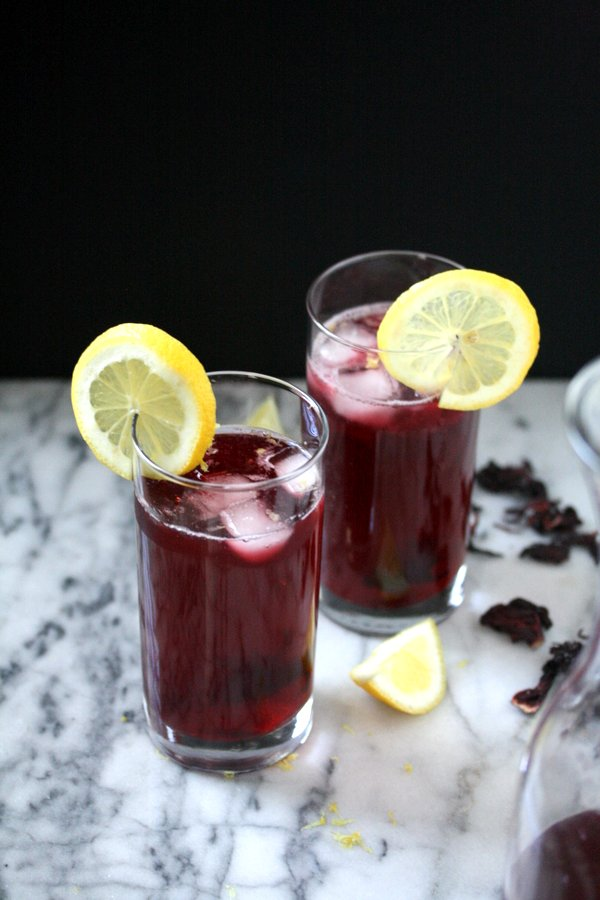 Arnold Palmers with Hibiscus Tea Recipe | An Iced Flower Tea with Tons of Health Benefits!