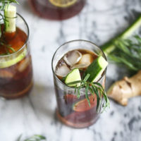 Healthy Pimm's Cup Cocktail Recipe with Ginger, Lime and Tarragon | Herby, Summer Cocktail Recipes | Feed Me Phoebe