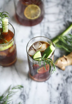 Pimm's Cup Cocktail with Ginger, Lime and Tarragon + More Healthy Hedonist Summer Cocktail Ideas {Video}