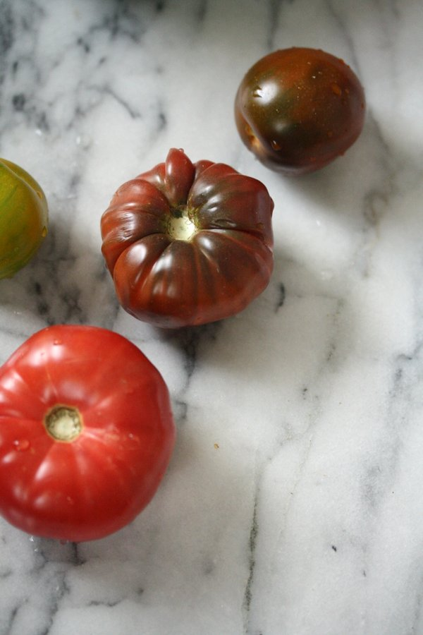 Heirloom tomatoes from @goodeggs!