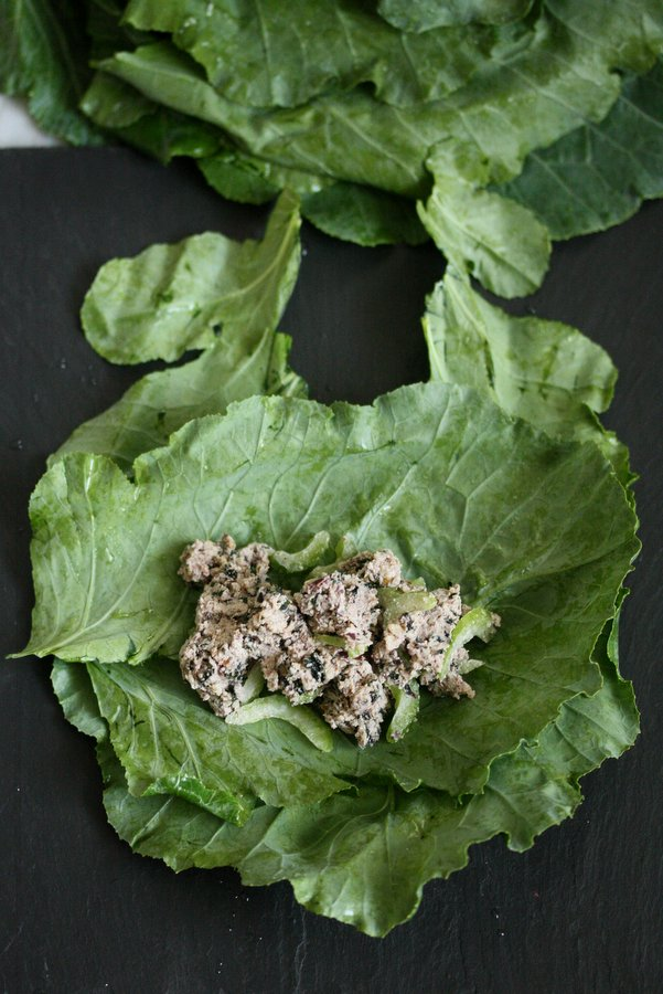 This genius vegan tuna salad recipe, inspired by Rich Roll and Julie Piatt, uses walnuts, olives, and seaweed to get the flavor of classic tuna salad.