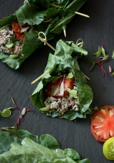 Vegan Tuna Salad Collard Green Wraps