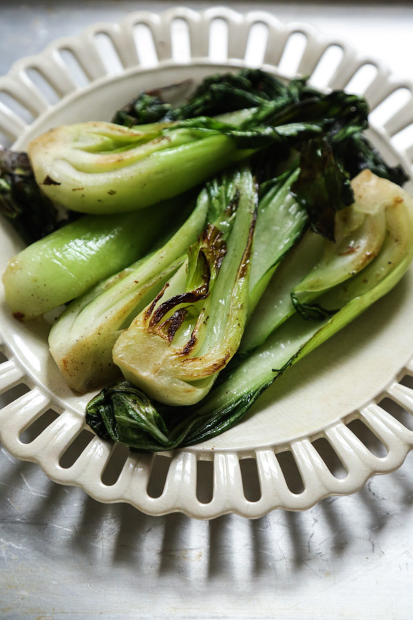 Stir-Fried Bok Choy prepped for my Thai Pumpkin Curry Recipe