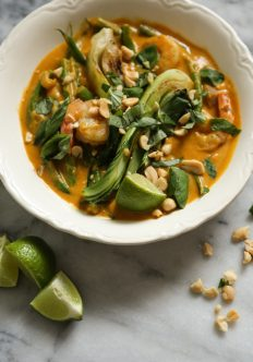 Thai Pumpkin Curry with Shrimp and Bok Choy