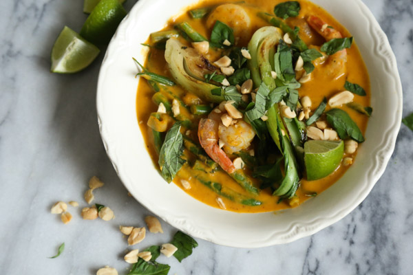 Shrimp Thai Red Curry with Pumpkin and Bok Choy Recipe   Gluten-Free, Quick and Healthy