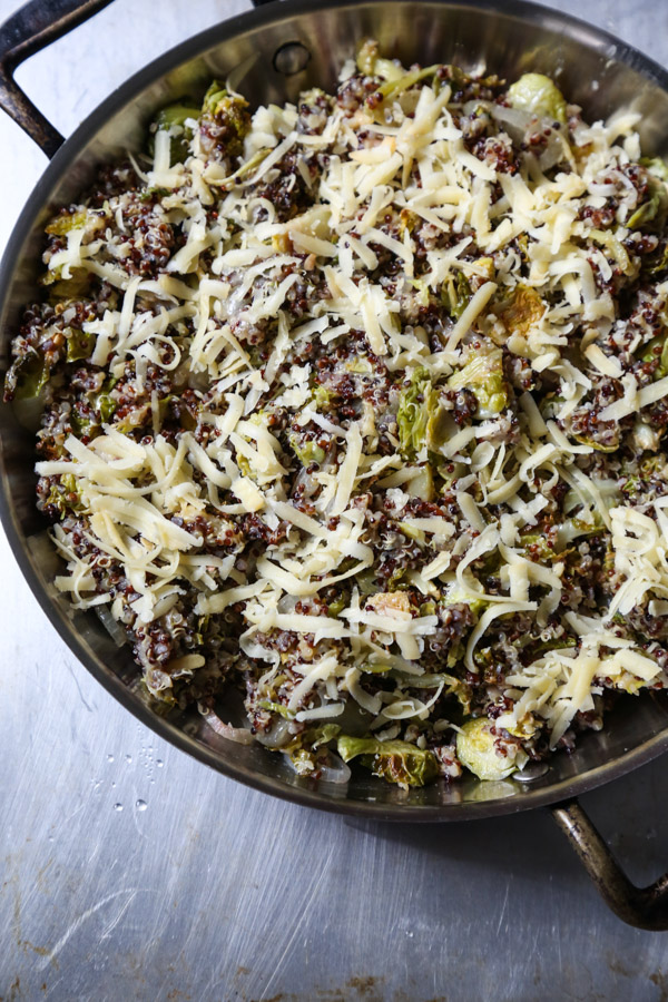 Brussels Sprout Gratin Recipe with Quinoa and Cheddar Cheese | Gluten-Free Gratin Recipe