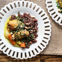 Baked Moroccan Chicken Thighs with Carrots <span>+ The Big 3-0</span>