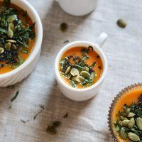Easy Creamy Roasted Carrot Soup Recipe | Vegan