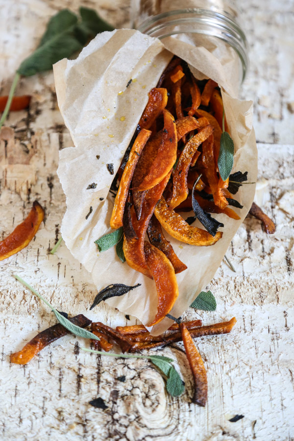 Baked Butternut Squash Fries with Sage and Anchovy Aioli | Healthy Comfort Food