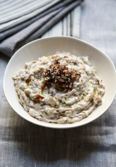 Healthy French Onion Dip with Leeks and Shallots