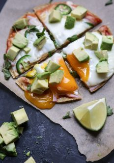 Easy Mexican Breakfast Pizzas with Avocado (Gluten-Free)