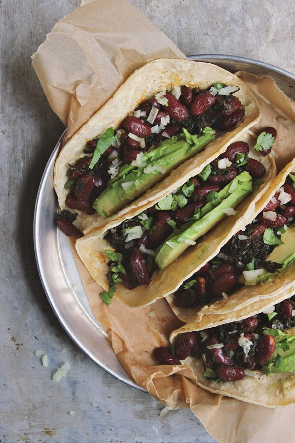 The Best Vegan Recipes From Sherrie Castellano | Winter | classic-beans-and-greens-tacos-5