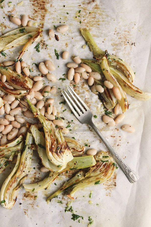 The Best Vegan Recipes From Sherrie Castellano With Food + Love | Winter | roasted-fennel-white-beans-4