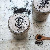 Vegan Black Sesame Milkshakes