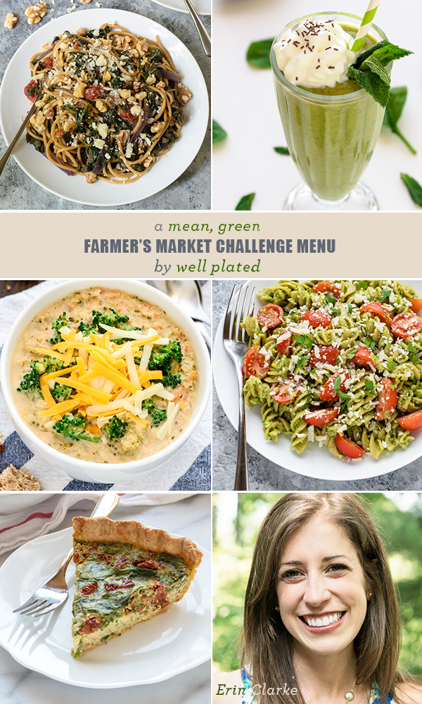 Healthy St. Patrick's Day Recipes with Greens From Well Plated | Farmer's Market Challenge Menus | www.feedmephoebe.com