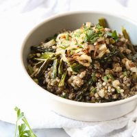 Spring Quinoa Mujadara with Asparagus {Video}