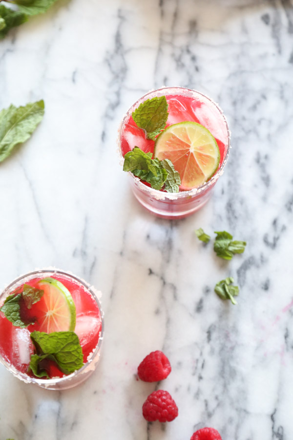 Raspberry Margaritas | A Play on a Raspberry Lime Rickey Recipe | www.feedmephoebe.com