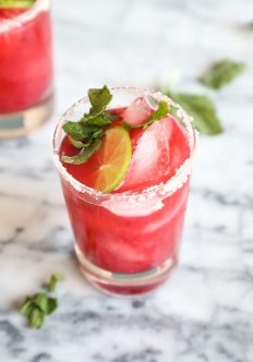 Bottoms Up: Raspberry Lime Rickey Margaritas + 4 Years of Feeding YOU