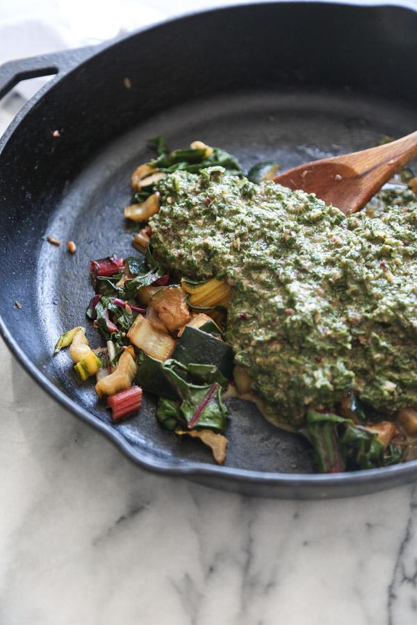 Green Israeli Shakshuka Recipe with Chard, Peas, and Zucchini   Feed Me Phoebe