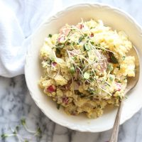 Creamy Red Potato Salad with Radishes, Capers and Chives