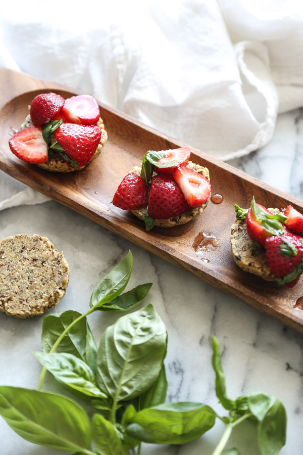 Gluten-Free Strawberry Shortcakes | Berried Macerated with Basil, Tequila and Honey | Shortcakes Made From Hazelnut Flour! An Easy Paleo Dessert | Feed Me Phoebe