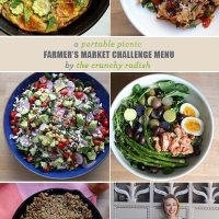 A Portable Picnic Farmer's Market Challenge Menu From The Crunchy Radish
