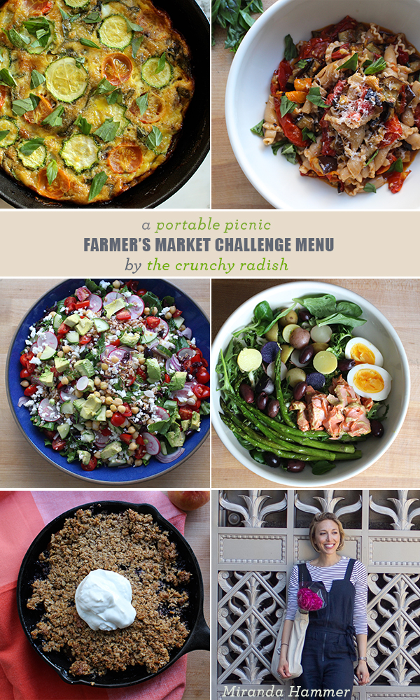 A Farmer's Market Challenge Menu From The Crunchy Radish | Feed Me Phoebe