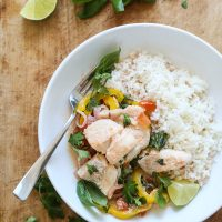 """Brazilian-Style """"Moqueca"""" Fish Packets with Coconut Milk and Tomatoes"""