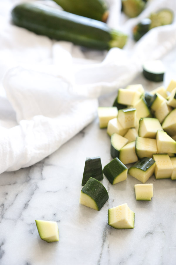 Zucchini for my Creamy Zucchini Soup Recipe with Avocado, Scallions, Basil and Brazil Nut Chili Oil | VEGAN | Feed Me Phoebe