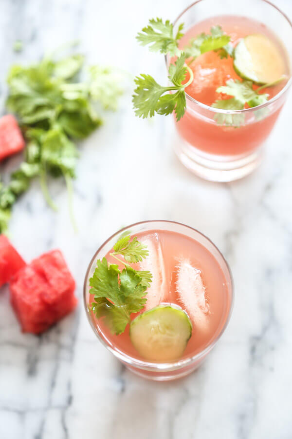 A Watermelon Kombucha Recipe with Cucumber (Tequila Optional!)   Healthy Drinks   Feed Me Phoebe