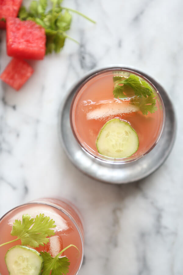 A Watermelon Kombucha Recipe with Cucumber (Tequila Optional!) | Healthy Drinks | Feed Me Phoebe