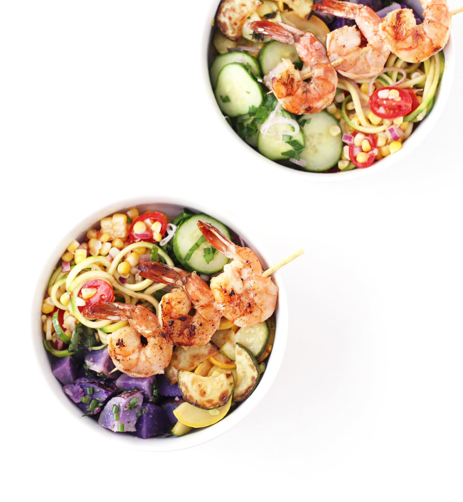 Shrimp Summer BBQ Bowls | A Summer Bowl Farmer's Market Challenge Menu by Clean Food, Dirty City