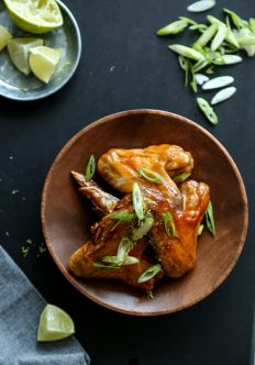 Honey-Lime Baked Chicken Wings with Tequila Chipotle Glaze