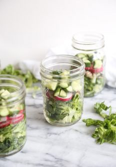 Middle Eastern Seven Layer Salad in a Jar