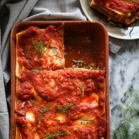 Greek Lasagna with Lamb, Fennel and Chard (Gluten-Free)