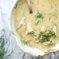 Garlicky Avgolemono Soup with Fennel and Quinoa