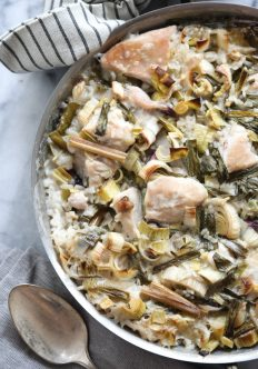 """Tom Kha Gai"" Thai Chicken and Rice Casserole with Leeks"