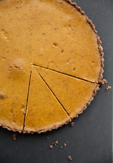Gluten-Free Pumpkin Tart with Mexican Chocolate-Almond Crust