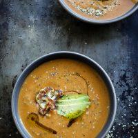 Red Curry Sweet Potato-Cauliflower Soup + Eating My Birthday Feelings