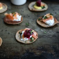 Gluten-Free Buckwheat Blinis with All the Fixings
