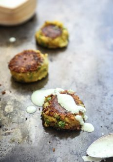 Samosa-Style Leftover Mashed Potato Cakes with Ginger-Scallion Yogurt