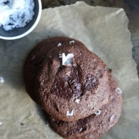 Gluten-Free Double Chocolate Cookies with Buckwheat and Sea Salt