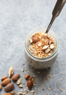 Toasted Coconut-Almond Crunch Chia Pudding with Maca + The FMP Facelift!