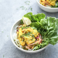Vietnamese Fish with Turmeric-Dill Sauce (Cha Ca La Vong)