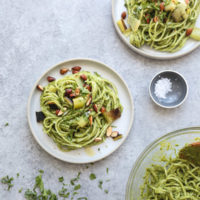 Charred Leek Pesto Pasta Salad Recipe | Healthy, Vegan, Vegetarian, Easy, Dairy-Free, 5-ingredient